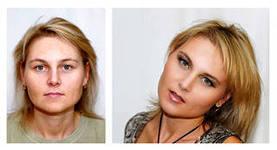 Макияж: до и после