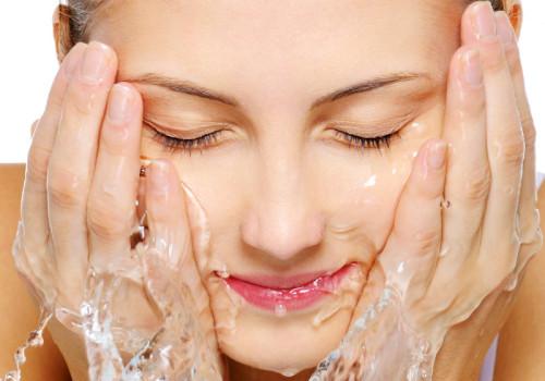 Очищение кожи лица.